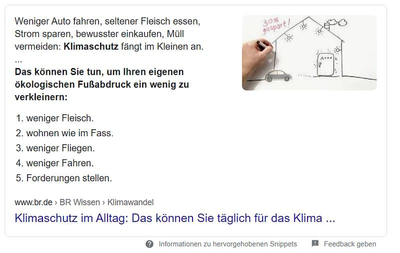 Screenshot - organisches Suchergebnis