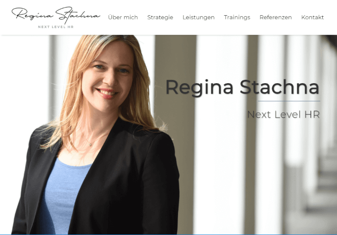 Referenz Website Regina Stachna