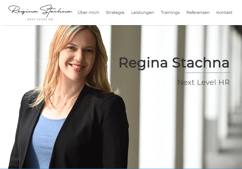 Referenz Website Regina Stachna