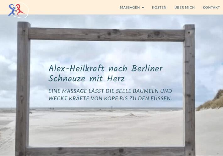 Screenshot Website Heilmassagen Berlin