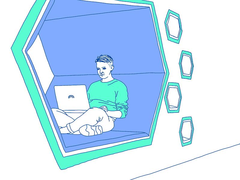 Illustration von Webdesignerin Maria Preußmann beim Erarbeiten von SEO Strategie Maßnahmen